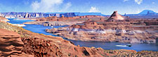 Lake Powell Glen Canyon Recreation Area Painting - Arizona panorama