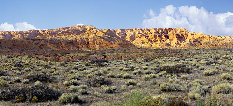 Hills of Truth or Consequences panorama from New Mexico sold as framed photo or canvas
