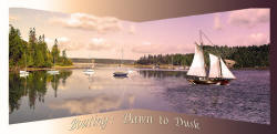 Boating from Dawn to Dusk - an imaginative Washington Boating panorama