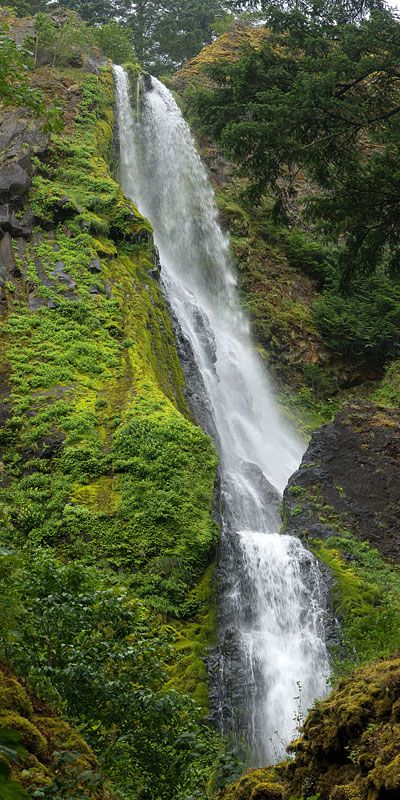 Starvation Creek Falls in Columbia Gorge, Oregon